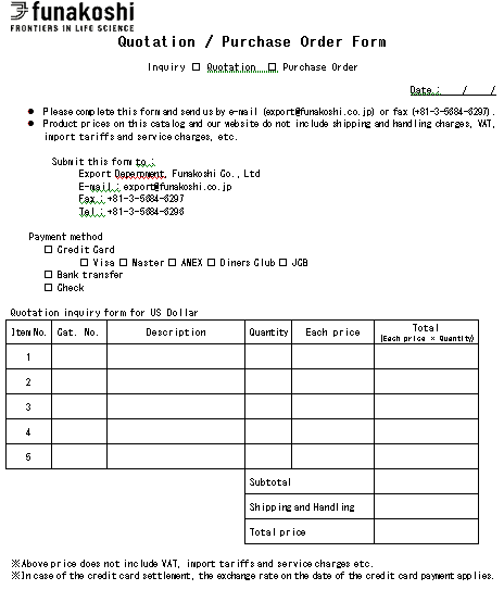 Purchase Order Templates 196461
