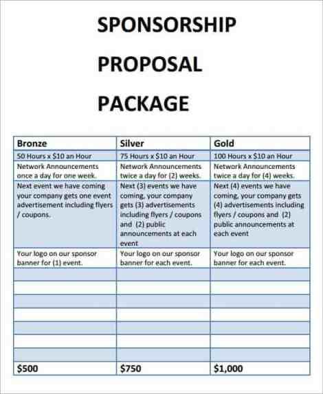 Sponsorship Proposal sample 10.461