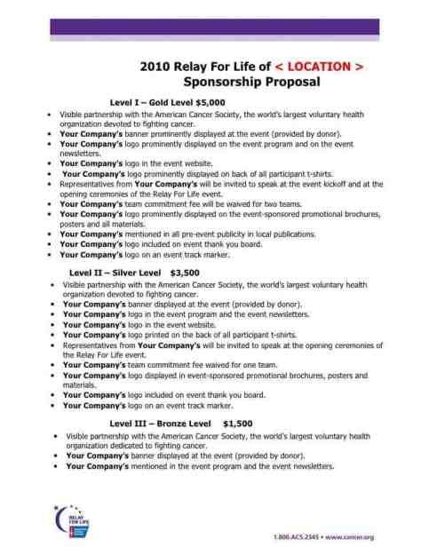 Sponsorship Proposal sample 19841
