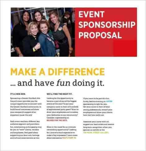 Sponsorship Proposal sample 4941