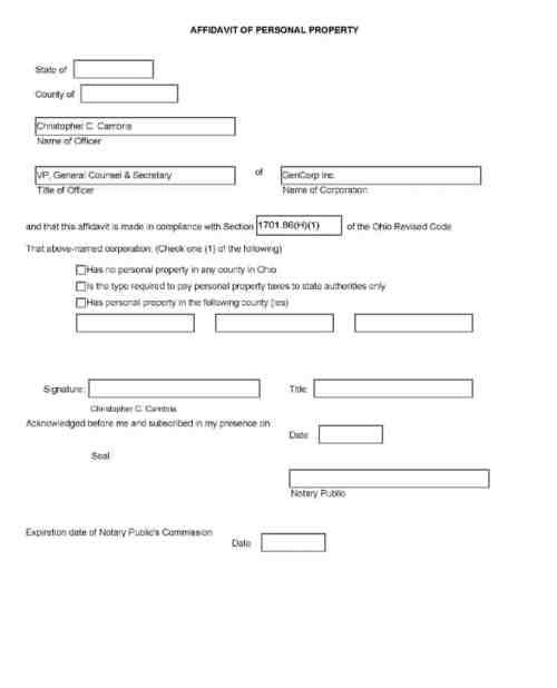 affidavit form example 39641