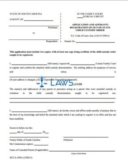 affidavit form template 97461