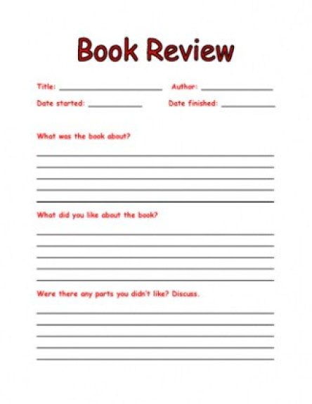 book report example 497