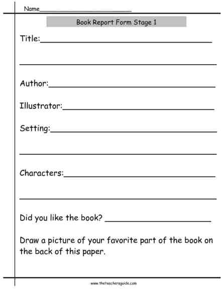 book report example 6974