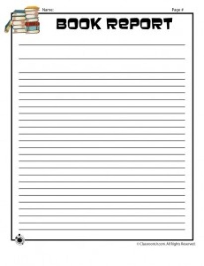 book report template 59641