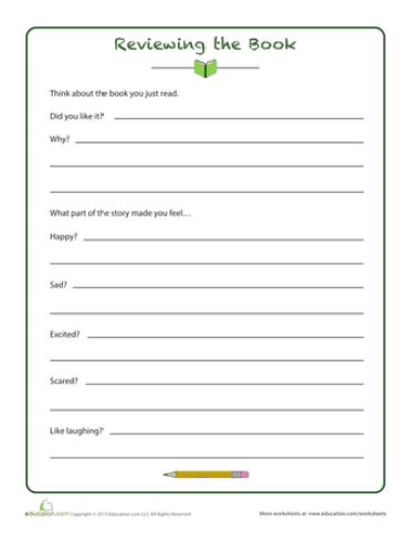 book report template 9794