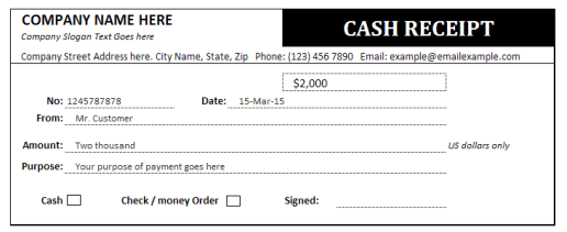 cash receipt example 19.41