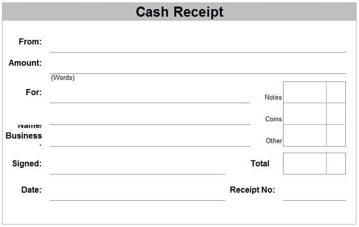 Cash Receipt Example 19741