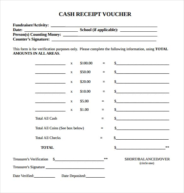 Cash Receipt Template 4741  Cash Receipt Sample
