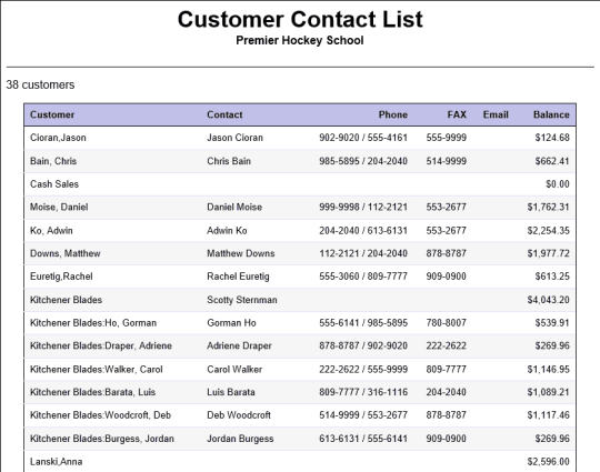 contact list sample 3641