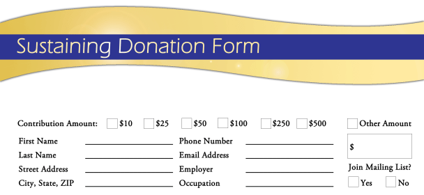 donation form template 29741