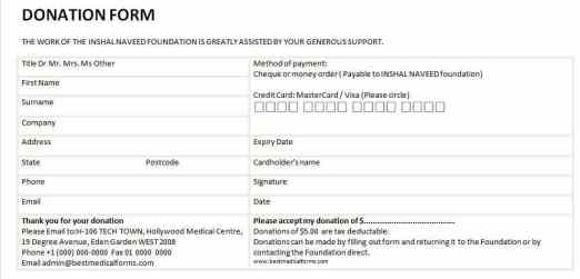 donation form template 397461
