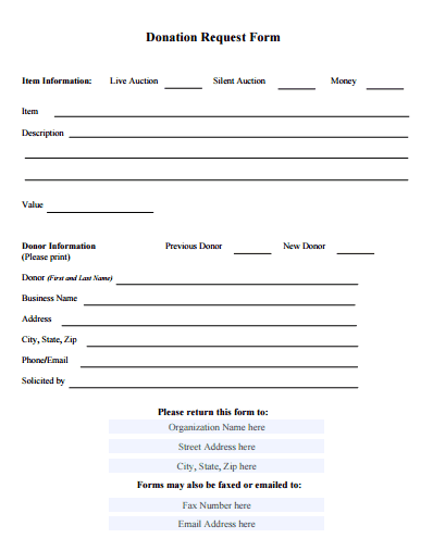 donation form template free - Bruce.brianwilliams.co