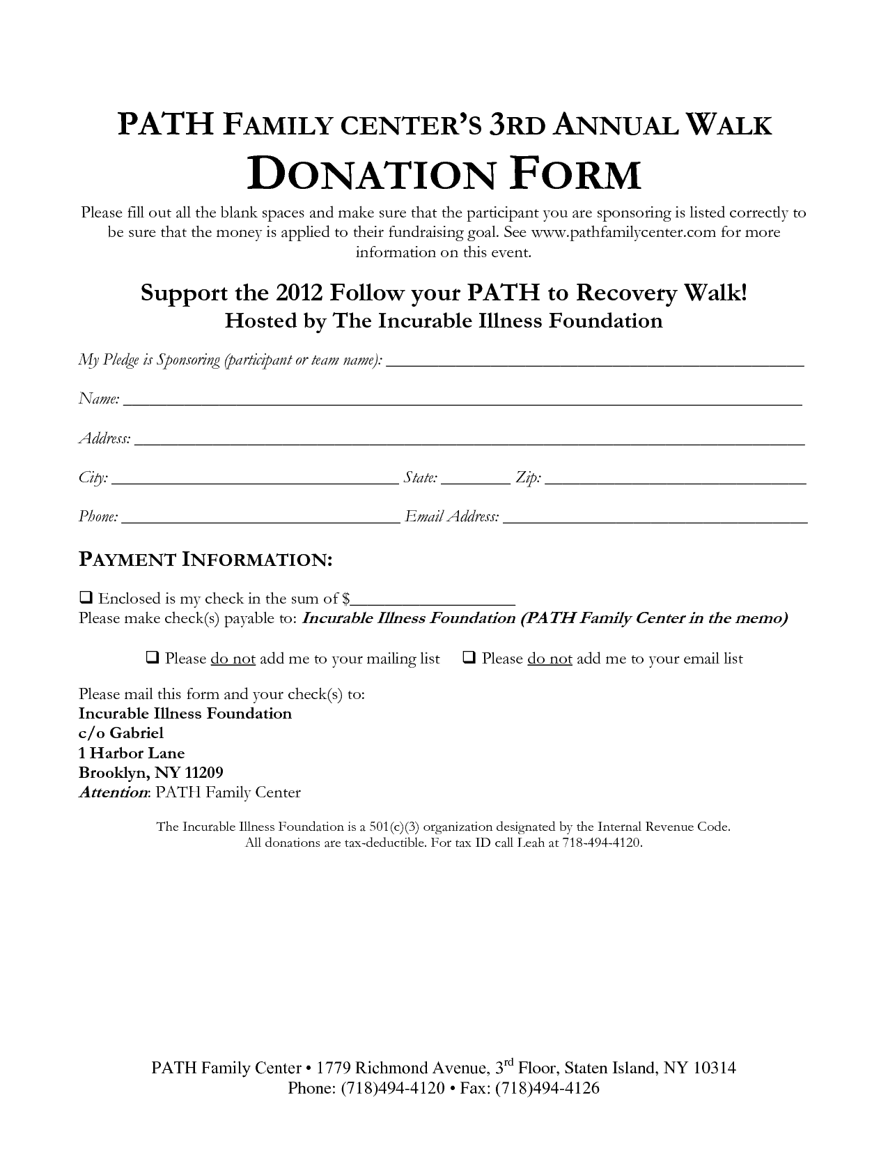 36 Free Donation Form Templates In Word Excel