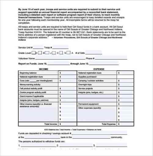 financial report sample 3461