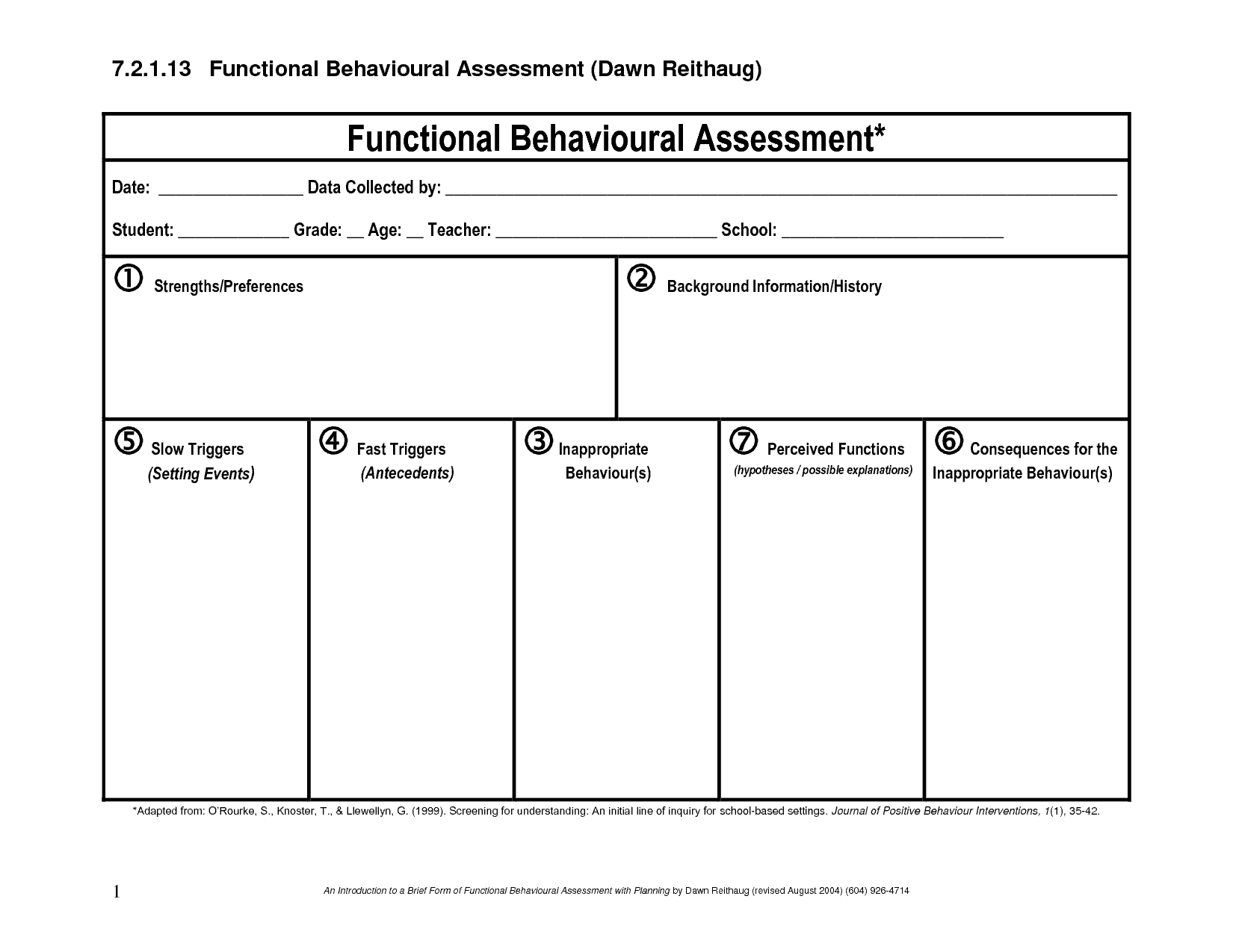 44 Free Assessment Templates In Word Excel Brochure