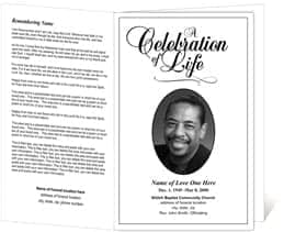 Delightful Funeral Program Template Free Ideas  Free Printable Funeral Programs Templates