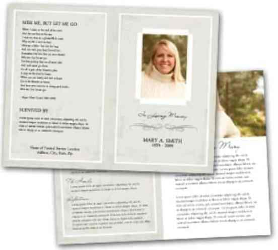 Free Free Funeral Program Template  Word Excel Formats
