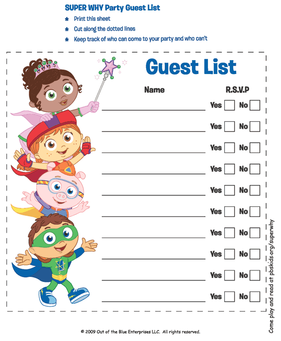 41 Free Guest List Templates Word Excel PDF Formats – Party Guest List