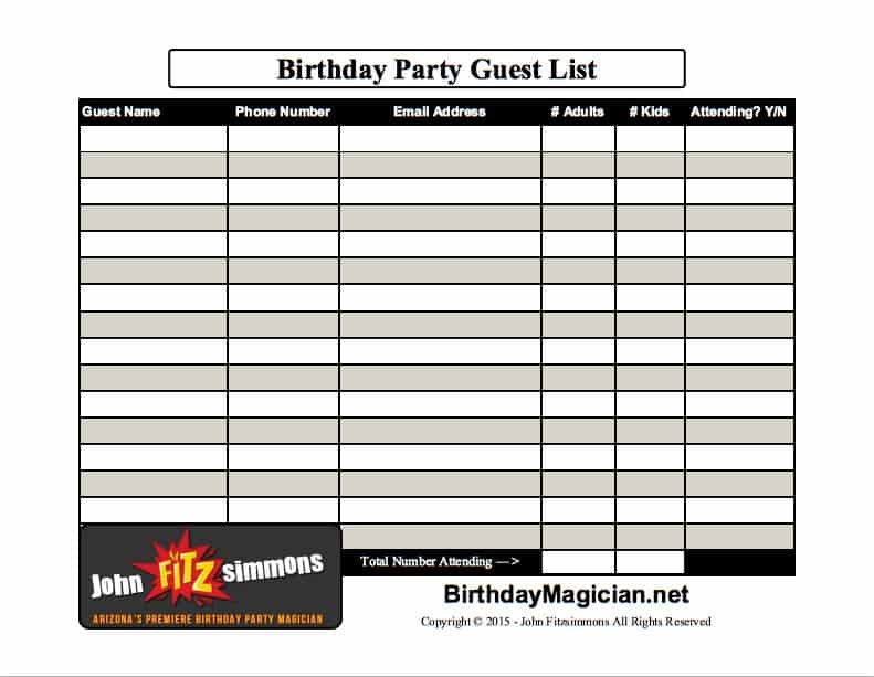 guest list example 27.94