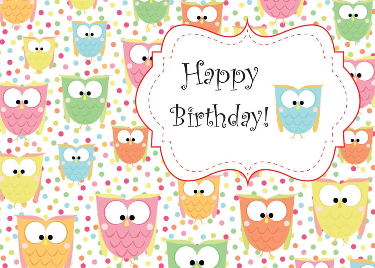 Happy Birthday Card 4974  Happy Birthday Cards Templates
