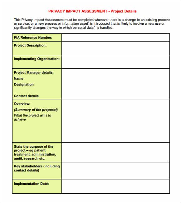 44+ Free Impact Assessment Templates In Word Excel Pdf Formats