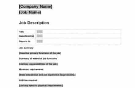 19 free job description templates in word excel pdf