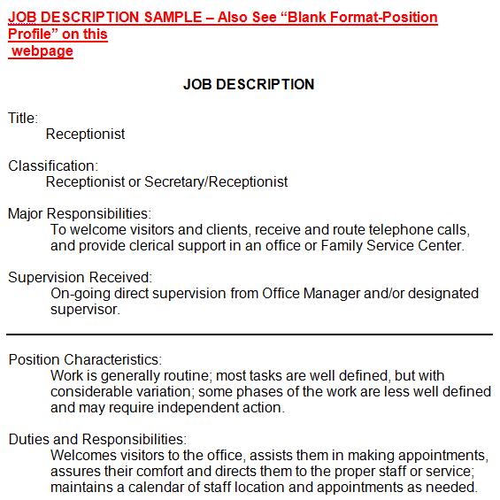 job description template 26941