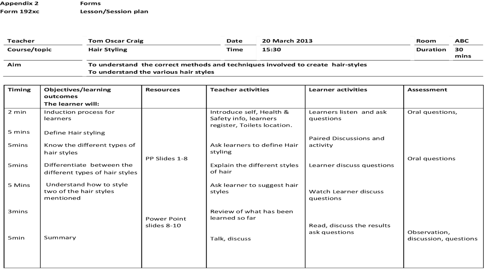 41 Free Lesson Plan Templates In Word Excel