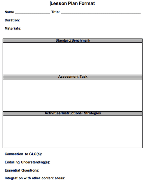 Integrated Lesson Plan Template Image Collections Template Design