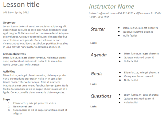 lesson plan template 1641