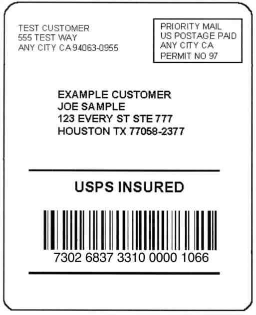 mailing label sample 12.41