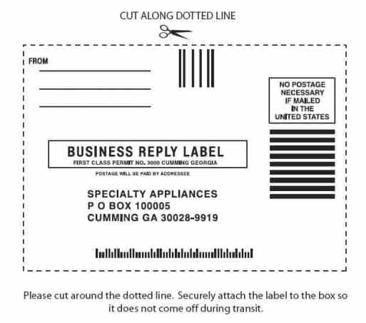 mailing label sample 741
