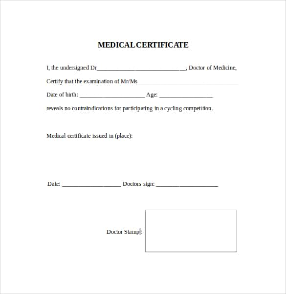 21 free medical certificate template word excel formats medical certificaet example 24641 yadclub Images