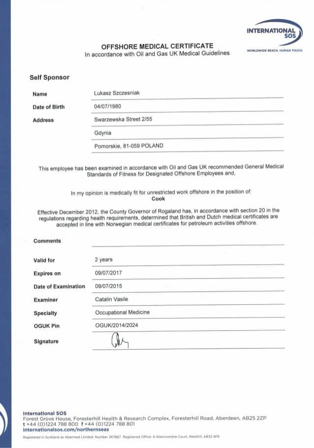 health certificate sample