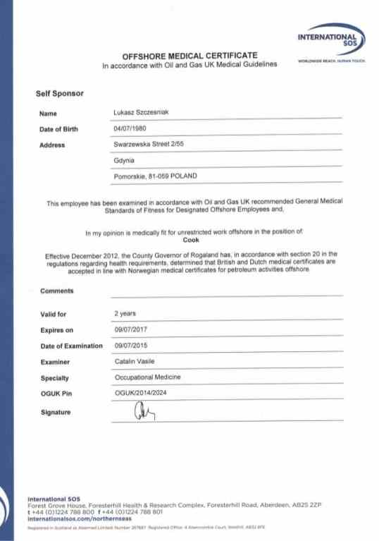 medical certificaet example 241