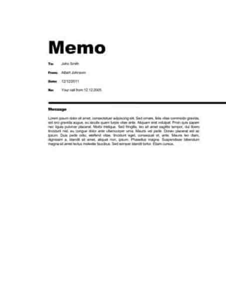 Business Memorandum Template  BesikEightyCo