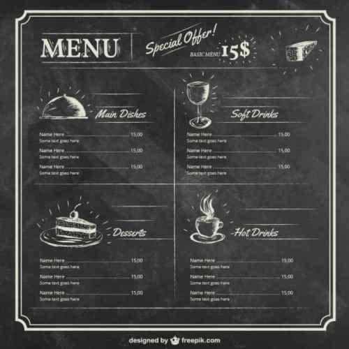 menu sample 1641