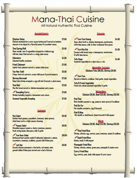 menu template 294
