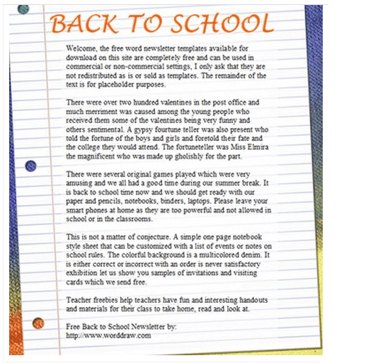 newsletter template 69641
