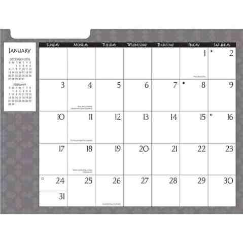 office calendar sampl e1854