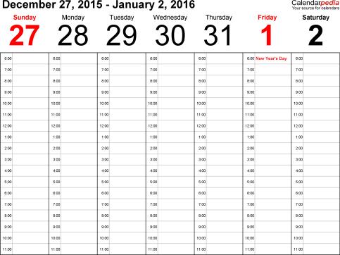office calendar sample 16.941