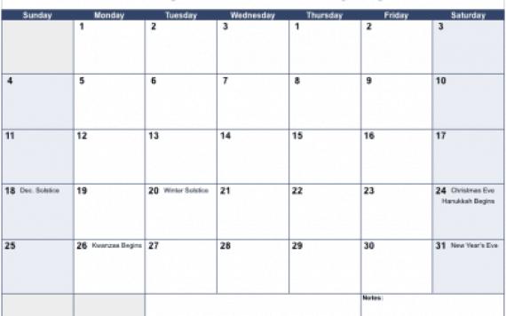 office calendar template 5974