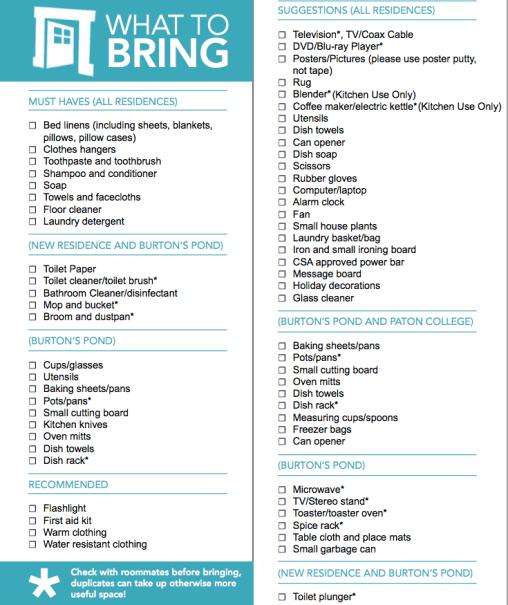packing list sample 18.41