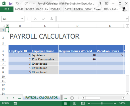 payroll sample template 10.6449