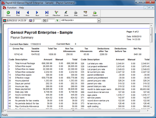 payroll sample template 15.9641