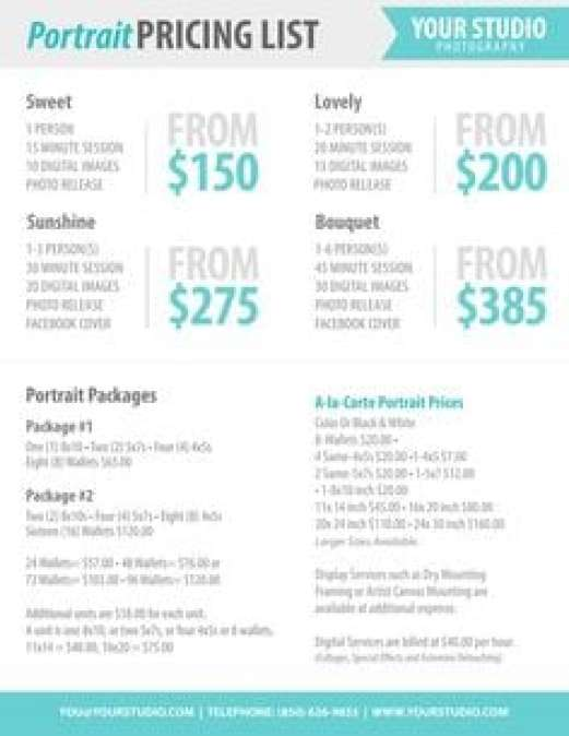 21 Free Price List Template Word Excel Formats – Price List Template