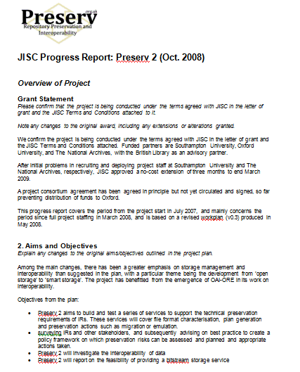 progress report template 5941