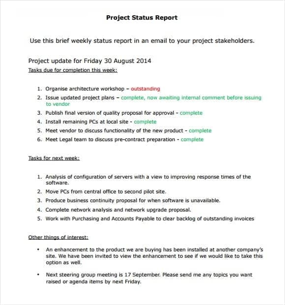 how to write a project report template