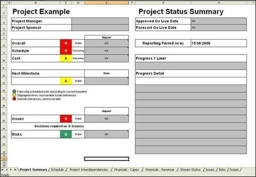 Project report template get your free excel status report 21 free project report template word excel formats pronofoot35fo Images